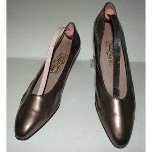 SALVATORE FERRAGAMO Bronze Pumps Heels